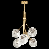 Fine Art Lamps 899440-2SQ Nest Contemporary Gold LED Mini Hanging Chandelier