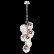 Fine Art Lamps 899740-110AM Nest Contemporary Silver LED Mini Lighting Chandelier