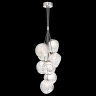 Fine Art Handcrafted Lighting 899740-110CL Nest Contemporary Silver LED Mini Chandelier Light