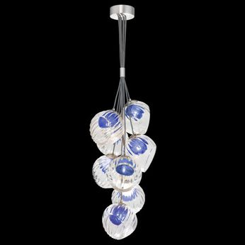 Fine Art Handcrafted Lighting 899740-110CO Nest Contemporary Silver LED Mini Ceiling Chandelier