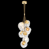 Fine Art Handcrafted Lighting 899740-210AB Nest Contemporary Gold LED Mini Chandelier Lamp