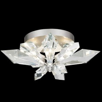 Fine Art Handcrafted Lighting 901840-1 Foret Silver Ceiling Light