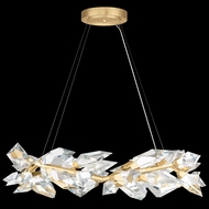 Fine Art Handcrafted Lighting 902640-2 Foret Contemporary Gold Hanging Pendant Lighting