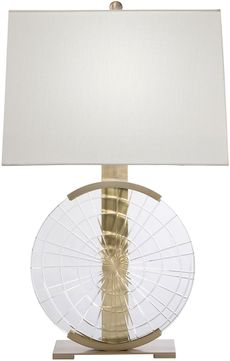 Fine Art Lamps 906010 Crystal Lamps Brass Table Lamp Lighting