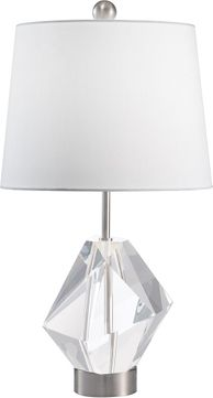 Fine Art Lamps 907310 Crystal Lamps Nickel Table Top Lamp