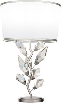 Fine Art Handcrafted Lighting 908010-1 Foret Modern Silver Table Top Lamp