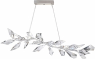 Fine Art Handcrafted Lighting 908340-1 Foret Contemporary Silver Kitchen Island Light