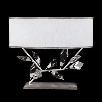 Fine Art Lamps 908510-1 Foret Contemporary Silver Side Table Lamp