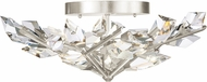 Fine Art Handcrafted Lighting 908740-1 Foret Modern Silver Ceiling Light Fixture