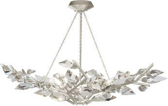 Fine Art Handcrafted Lighting 909040-1 Foret Contemporary Silver Chandelier Light