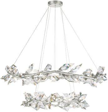 Fine Art Handcrafted Lighting 909140-1 Foret Contemporary Silver Hanging Chandelier