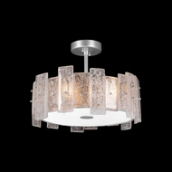 Fine Art Handcrafted Lighting 910640-1 Lunea Modern Silver Ceiling Lighting