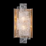 Fine Art Handcrafted Lighting 910850-2 Lunea Contemporary Gold Sconce Lighting