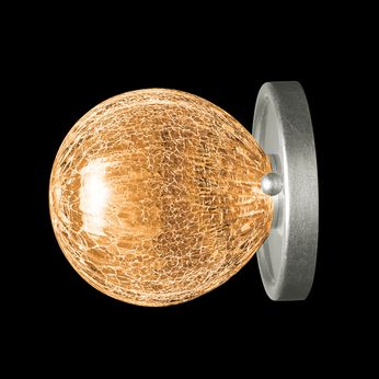 Fine Art Handcrafted Lighting 911650-1AB Nest Contemporary Silver Wall Sconce