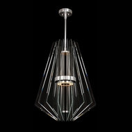 Fine Art Handcrafted Lighting 913540-1 Newton Contemporary Silver LED Drop Lighting Fixture
