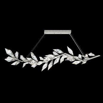 Fine Art Handcrafted Lighting 914640-1 Foret Contemporary Silver Island Lighting