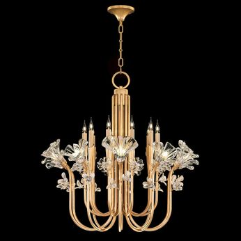 Fine Art Lamps 915140-2 Azu Gold LED Chandelier Lighting
