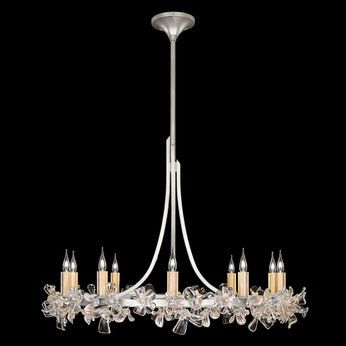 Fine Art Lamps 915240-1 Azu Silver LED Chandelier Lamp