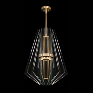 Fine Art Handcrafted Lighting 917040-2 Newton Contemporary Gold LED Drop Lighting Fixture