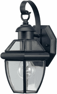 Forte 1101-01-04 Black Outdoor 12 Wall Sconce