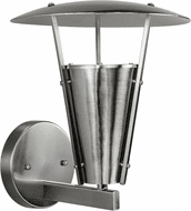 Forte 1150-01-55 Modern Brushed Nickel Exterior 11  Lighting Wall Sconce