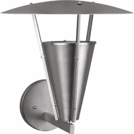 Forte 1160-01-55 Contemporary Brushed Nickel Exterior 15 Wall Light Sconce