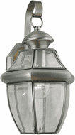 Forte 1201-01-34 Antique Pewter Outdoor 14 Wall Lamp
