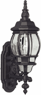 Forte 1701-01-04 Traditional Black Outdoor Wall Mounted Lamp