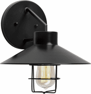 Forte 1808-01-04 Black Outdoor 10 Lighting Wall Sconce