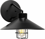 Forte 1809-01-04 Black Outdoor 12 Wall Sconce Lighting