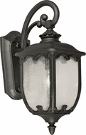 Forte 1819-01-04 Traditional Black Outdoor 20 Wall Light Sconce