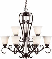 Forte 2311-09-32 Angelo Traditional Antique Bronze 32 Ceiling Chandelier