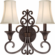 Forte 2327-02-32 Traditional Antique Bronze Lighting Sconce