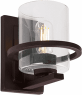 Forte 2404-01-04 Halo Contemporary Black Wall Light Sconce
