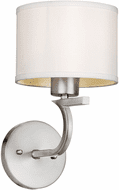 Forte 2562-01-55 Modern Brushed Nickel Wall Sconce Lighting