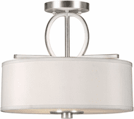 Forte 2562-03-55 Contemporary Brushed Nickel Overhead Lighting