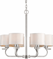 Forte 2562-06-55 Contemporary Brushed Nickel Ceiling Chandelier