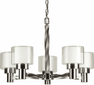 Forte 2691-05-55 Contemporary Brushed Nickel Chandelier Lamp