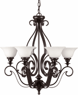 Forte 2762-06-32 Perry Traditional Antique Bronze 28 Chandelier Lighting