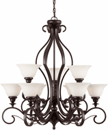 Forte 2762-09-32 Perry Traditional Antique Bronze 32 Lighting Chandelier