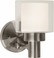 Forte 5691-01-55 Contemporary Brushed Nickel Light Sconce