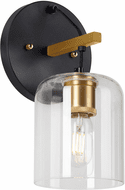 Forte 5724-01-62 Tyrone Modern Black and Soft Gold Sconce Lighting