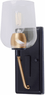 Forte 5726-01-62 Palmer Modern Black and Soft Gold Wall Lamp