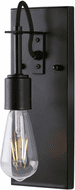 Forte 7113-01-04 Fergie Contemporary Black Wall Sconce Lighting