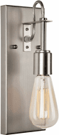 Forte 7113-01-55 Contemporary Brushed Nickel Wall Lighting Sconce