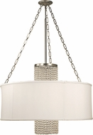 Framburg 1958-PS-SWH Angelique Polished Silver with White Sheer Shade 32  Drum Pendant Lighting