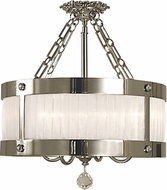 Framburg 2164-PS Astor Polished Silver 24  Drum Lighting Pendant