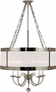 Framburg 2175-PS Astor Polished Silver 17  Drum Pendant Lamp