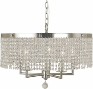 Framburg 2276-PS Princessa Contemporary Polished Silver Drum Hanging Light