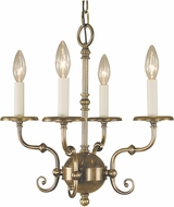 Framburg 2374 Jamestown Traditional Mini Lighting Chandelier